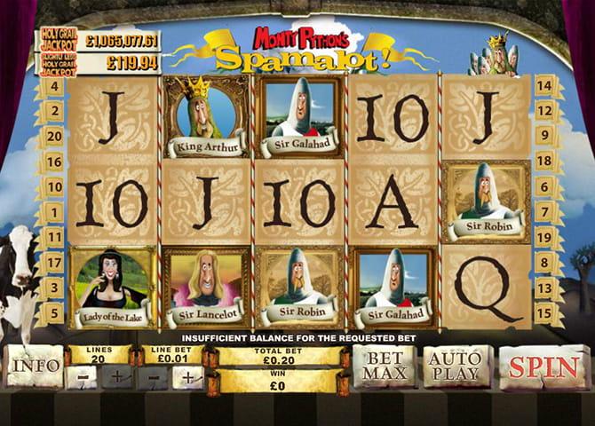 Play Monty Pythons Spamalot Online Slots at Casino.com UK